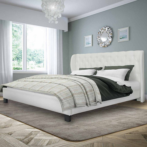 Fairfield Tufted Leather Bed