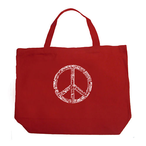Los Angeles Pop Art The Word Peace In 77 Languages Tote