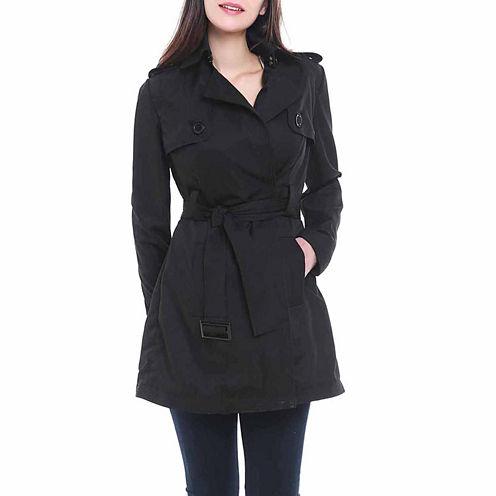 BGSD Women's Gabby Mid Length Trench Coat