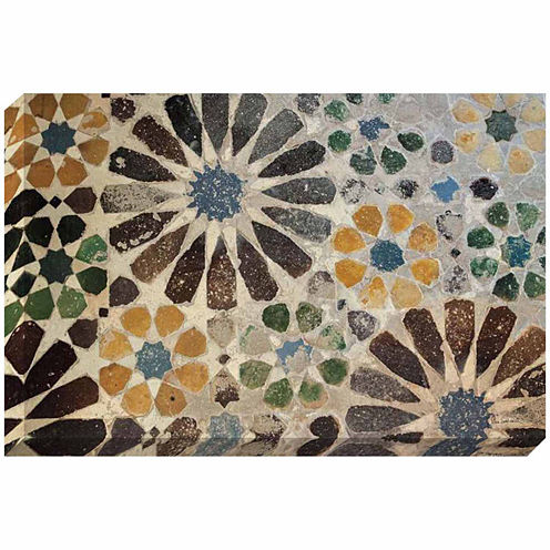 Decor Therapy Alhambra Tile Stretched Canvas