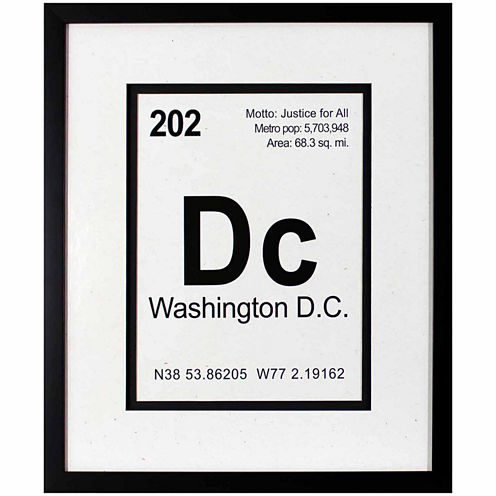 Decor Therapy Breaking Washington DC in Black Frame