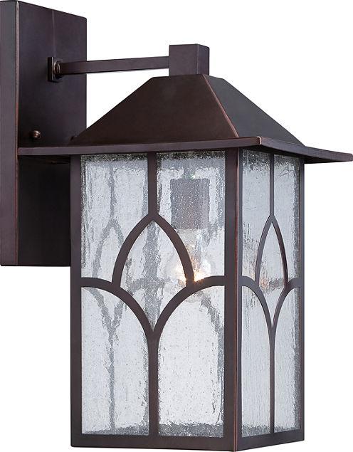Filament Design 1-Light Claret Bronze Glass Outdoor Wall Sconce