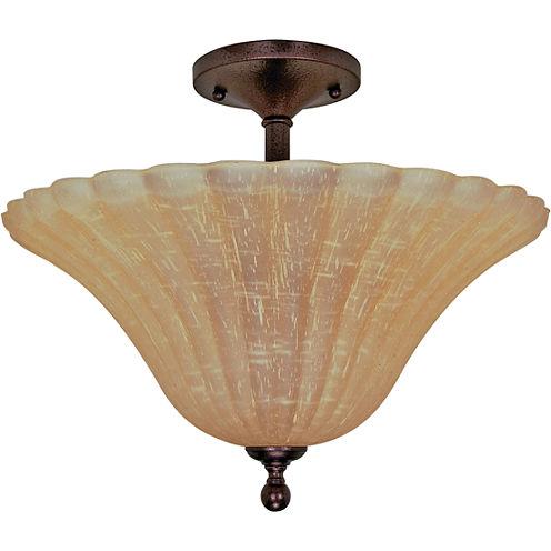 Filament Design 3-Light Copper Bronze Semi-Flush Mount