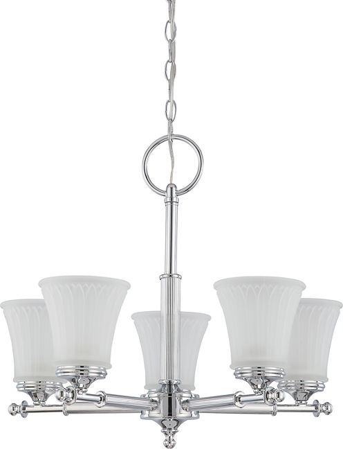 Filament Design 5-Light Polished Chrome Chandelier
