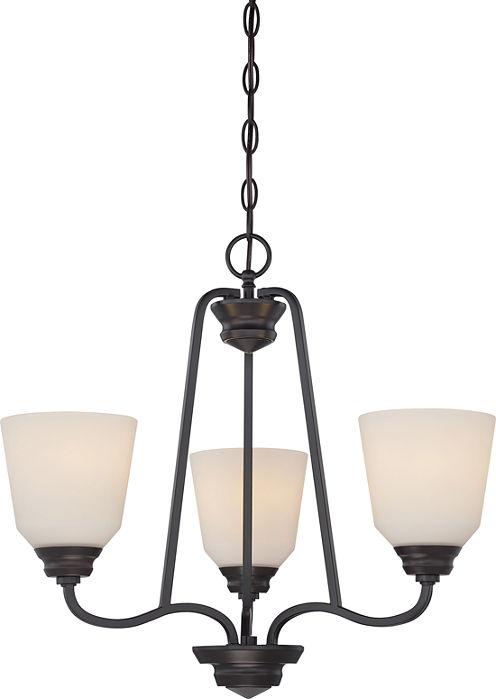 Filament Design 3-Light Mahogany Bronze Chandelier