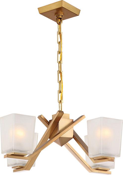 Filament Design 4-Light Vintage Brass Chandelier