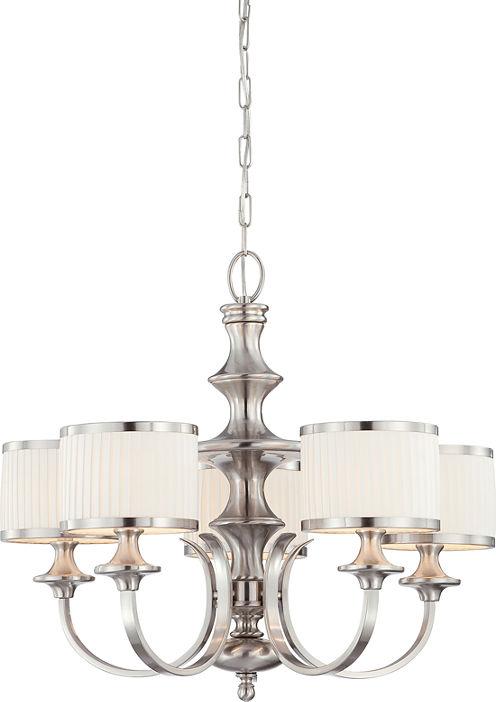 Filament Design 5-Light Brushed Nickel Chandelier