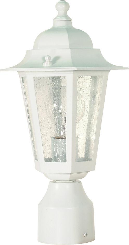 Filament Design 1-Light White Outdoor Post Light