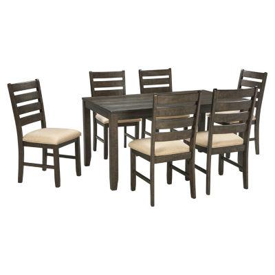 Signature Design by Ashley® Linwood 7-Piece Rectangular Dining Set ...