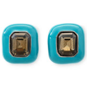 Liz Claiborne Set Stone Clip-On Earrings