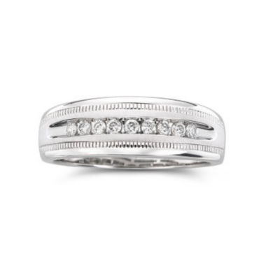 jcpenney.com | Mens 1/4 CT. T.W. Diamond Band 10K White Gold