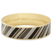 Liz Claiborne Gray & Black Multi-Stripe Bangle Bracelet