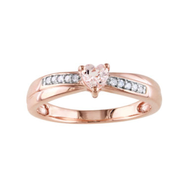 jcpenney.com | Genuine Morganite & Diamond-Accent Heart-Shaped Ring