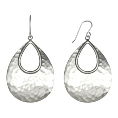 jcpenney.com | Sterling Silver Hammered Drop Earrings