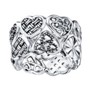 Sterling Silver Multi-Heart Ring