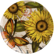 Nature Set of 4 Sunflower Salad Plates