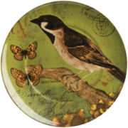 Nature Set of 4 Bird Salad Plates