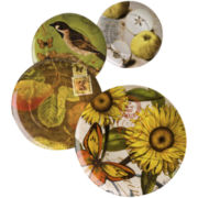 Nature Set of 4 Assorted Salad Plates
