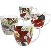 Nature Set of 4 Assorted Mugs