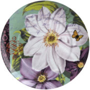 Impressions Set of 4 Clematis Salad Plates