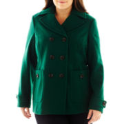 St. John's Bay® Classic Pea Coat - Plus