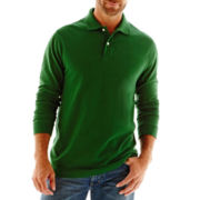 St. John's Bay® Sueded Polo Shirt