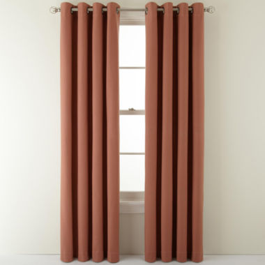 jcpenney.com | MarthaWindow™ Fairmount Basketweave Grommet-Top Heavyweight Cotton Curtain Panel