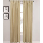 Supreme Palace Antique Satin Pinch-Pleat Thermal Curtain Panel Pair