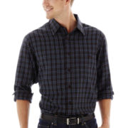 Haggar® Long-Sleeve Microfiber Woven Shirt