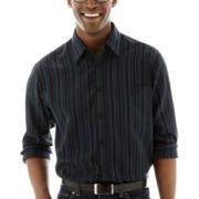 Haggar® Long-Sleeve Microfiber Woven Shirt