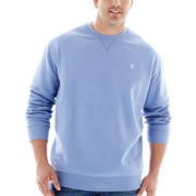 IZOD® Long-Sleeve Fleece Crewneck–Big & Tall
