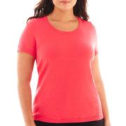 Liz Claiborne® Short-Sleeve Sweater Shell - Plus