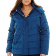 St. John's Bay® Hooded Puffer Jacket - Plus