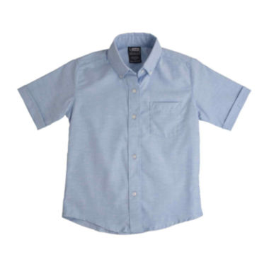 jcpenney.com | French Toast® Short-Sleeve Oxford Dress Shirt - Boys 8-20 and Husky