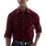 JF J. Ferrar® Roll-Sleeve Utility Shirt