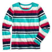 Arizona Long-Sleeve Striped Favorite Tee - Girls Plus