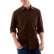 St. John's Bay® Long-Sleeve Heavyweight Chamois Shirt