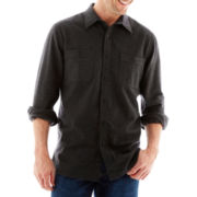 St. John's Bay® Long-Sleeve Heavyweight Chamois Shirt