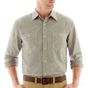 St. John's Bay® Long-Sleeve Chambray Shirt