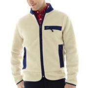 St. John's Bay® Full-Zip Sherpa Fleece Jacket