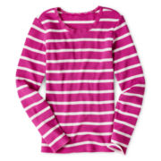 Arizona Long-Sleeve Striped Thermal Tee  - Girls 6-16 and Plus