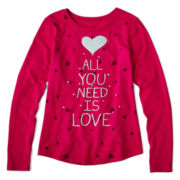 Arizona Long-Sleeve Holiday Graphic Tee - Girls Plus