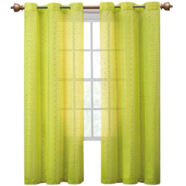 jcpenney.com | VCNY Abbey Sequence Grommet-Top Sheer Curtain Panel