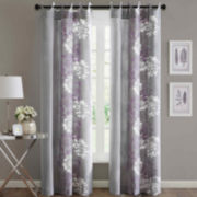 Madison Park Adria Scoop Grommet-Top Cotton Curtain Panel