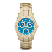 Relic® Beth Womens Crystal-Accent Gold-Tone Bracelet Sport Watch
