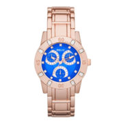 Relic® Beth Womens Crystal-Accent Rose-Tone Bracelet Sport Watch