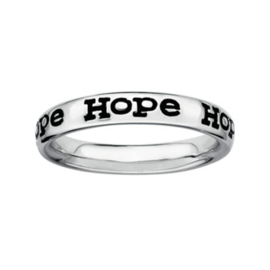 "jcpenney.com | Personally Stackable Sterling Silver ""Hope"" Stackable Ring"