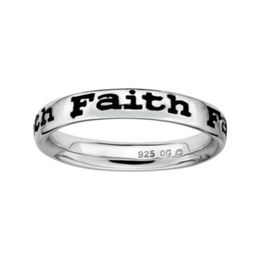 "jcpenney.com | Personally Stackable Sterling Silver ""Faith"" Stackable Ring"