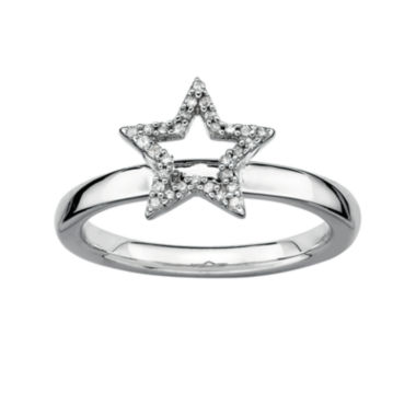 jcpenney.com | Personally Stackable 1/10 CT. T.W. Diamond Sterling Silver Star Ring