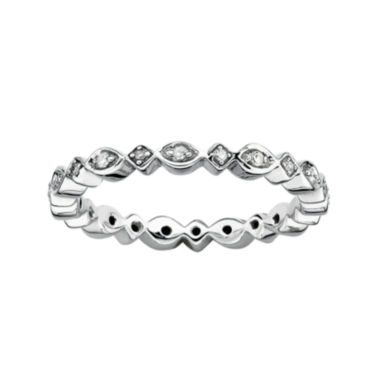 jcpenney.com | Personally Stackable 1/10 CT. T.W. Diamond Sterling Silver Ring